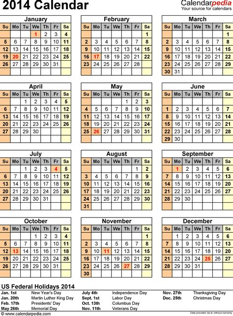 2014 calendar template for word 2014 calendar word calendar