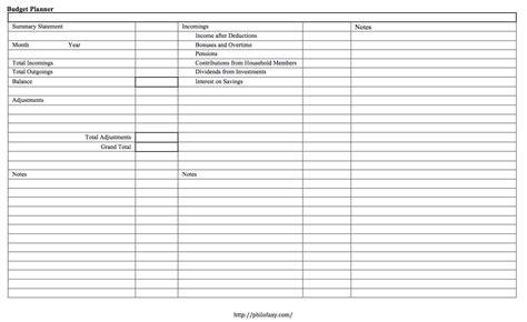 philofaxy budget planner template