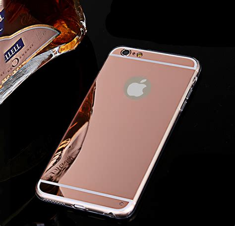 Flower Mirror For Iphone 5 5s 6 6s 6 6s Gold Luxury Mirror Soft Clear Phone Cases For