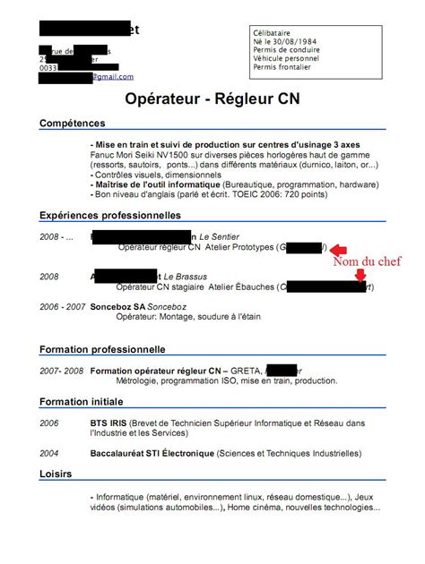 Exemple De Lettre De Motivation Horlogerie Exemple Cv Horlogerie Cv Anonyme