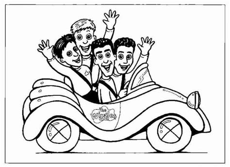 big coloring books coloring pages the wiggles coloring pages