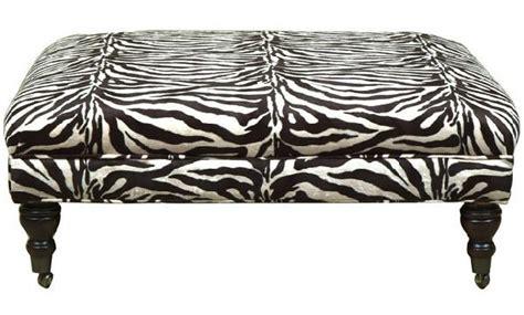 zebra ottoman walmart zebra bench ottoman look 4 less