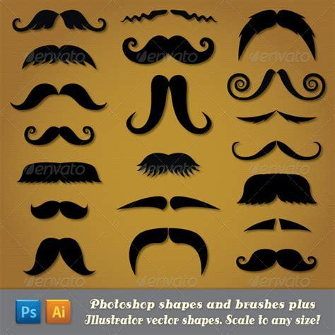 pattern photoshop beard moustache custom shapes for photoshop and illustrator on