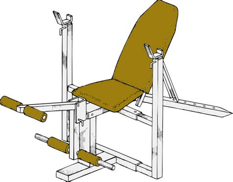 build workout bench exercise bench clip art at clker com vector clip art