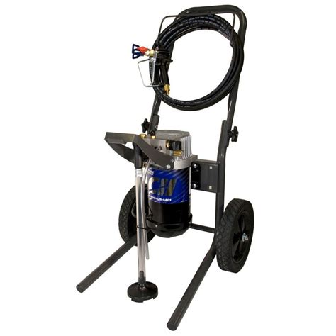 home depot airless paint sprayer hose cbell hausfeld 3 4 hp 34 gpm carted airless paint