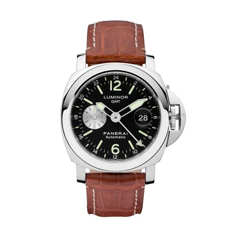 panerai luminor gmt automatic acciaio 44 mm pam00088 mens