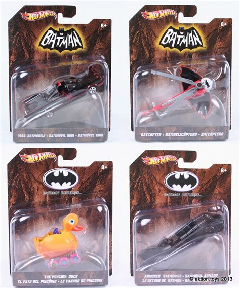 Hot Wheels Batman Batmobile Batcopter Penguins Duck