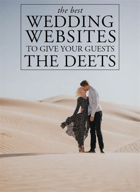 The Best Wedding Websites to Give Your Guests the Deets