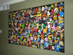 Lego Wall Murals This Lego Wall Mural Is An Epic Tribute To Video Games