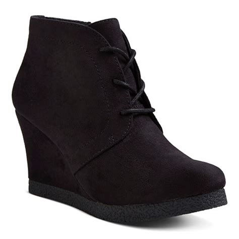 s lace up wedge booties merona 174 target