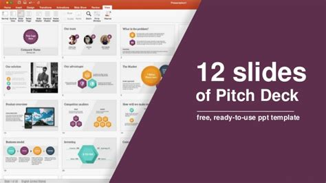 12 Slides Of Pitch Deck Free Ready To Use Ppt Template Pitch Template Powerpoint