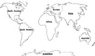 com items outline map of 7 continents coloring pages list