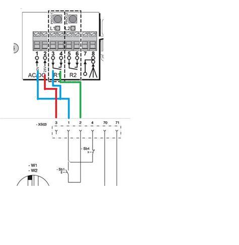 section 220 notice branchement relais somfy sur motorisation porte de garage
