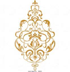 home design gold free damask cliparts