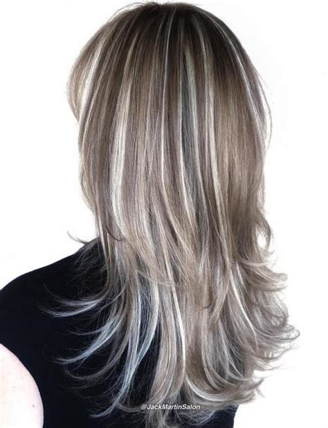 brown hair with platinum highlights 40 hair сolor ideas with white and platinum blonde hair