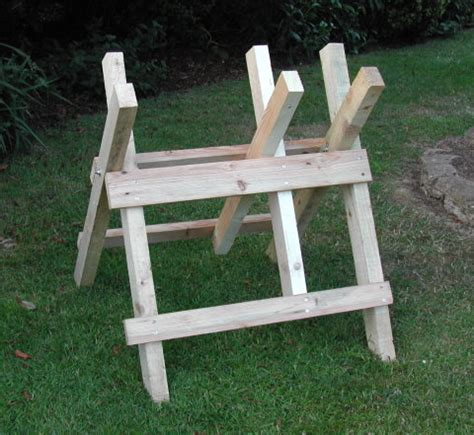 log cutting bench woodwork log sawhorse plans pdf plans