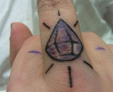 diamond tattoo on finger tattoos designs ideas and meaning tattoos for you