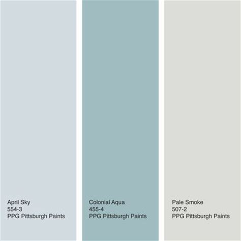 here s a palette that brings together april sky from ppg pittsburgh paints with a deeper watery