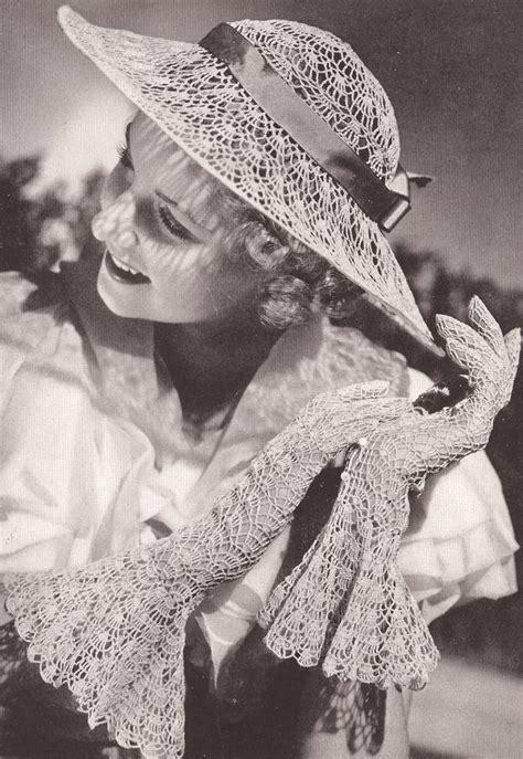 crochet pattern vintage hat vintage crochet pattern to make lace wedding hat gloves