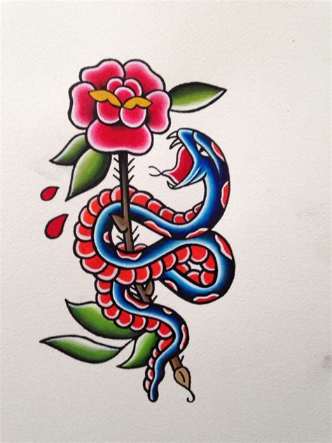 traditional snake tattoo traditional snake and outline inspiration