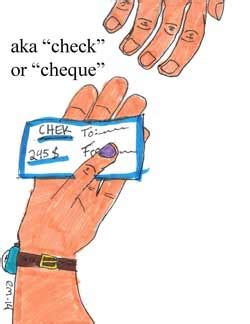 Meaning Of Drawer And Drawee Of Cheque by Check Or Cheque Definition
