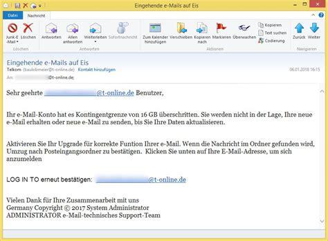 email telkom t online phishing eingehende e mails auf eis von telkom
