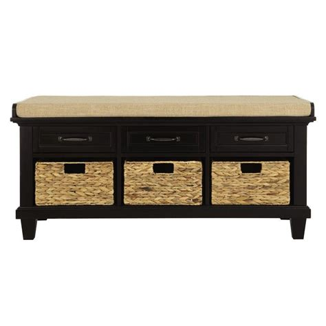 bench black home decorators collection martin black shoe storage bench