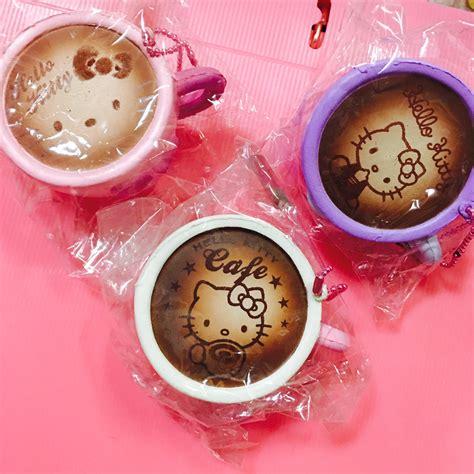 Squishy Hello Cup Coffee squishystuff sanrio hello coffee cup squishy