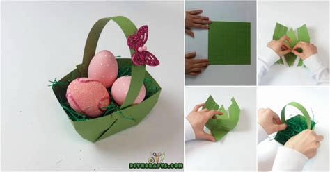 How To Make Crafts Out Of Paper - here is how to make a beautiful easter basket out of