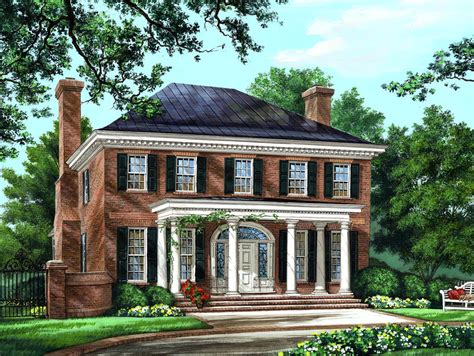 colonial home designs house plan 86225 at familyhomeplans