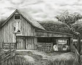 pencil drawings of barns bob