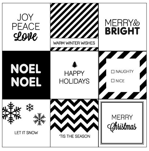 printable christmas tags black and white modern christmas printable gift tags modern christmas