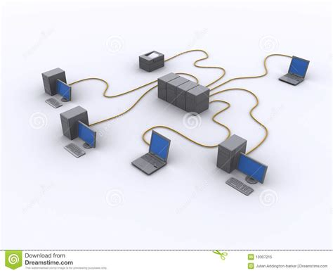 wired network diagram stock illustration image of