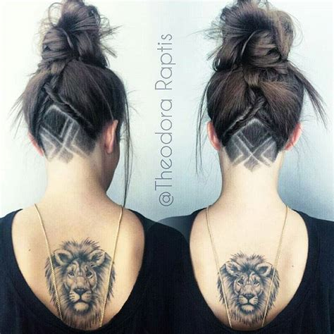 simple hair tattoo designs 31 best images about undercuts on mohawks