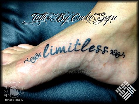 limitless tattoo limitless script by enoki soju by enokisoju on