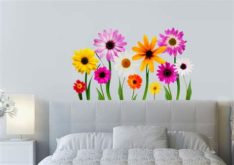 wall flower stickers flower garden galore flowers printed wall sticker