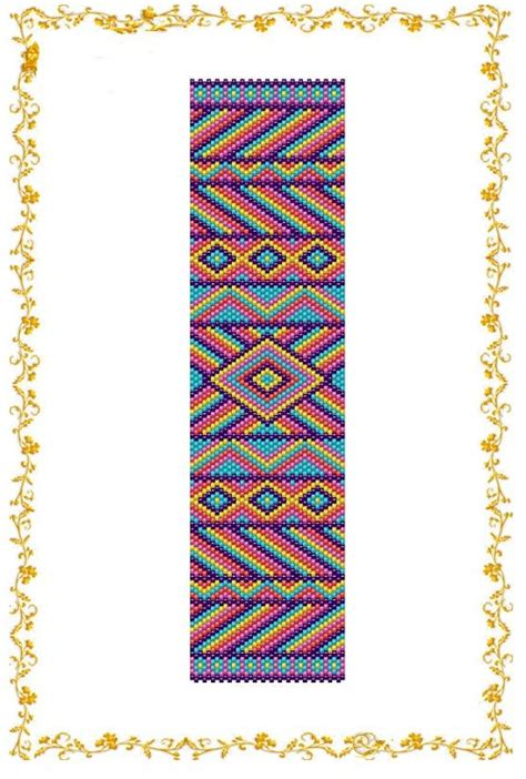 beaded peyote bracelet pattern peyote beading pattern bracelet cuff geometria count
