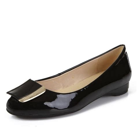 patent leather flats patent leather buckled ballet flats black ferragamo womens