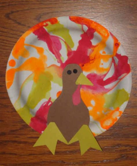 Thanksgiving Paper Plate Turkey Craft - preschool crafts for september 2014