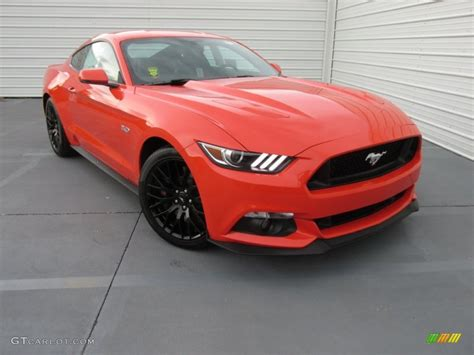 2015 mustang gt colors 2015 competition orange ford mustang gt premium coupe