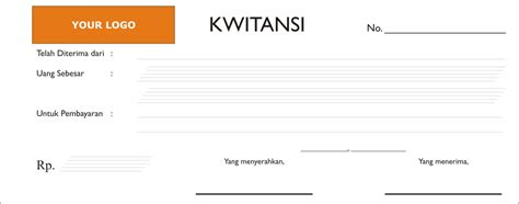 Contoh Kuitansi Dengan Logo by Contoh Kuitansi Dengan Logo Kwitansi Nota Dan Faktur