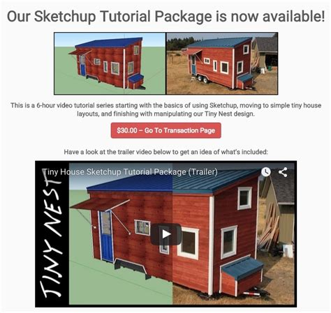 tutorial sketchup house tiny house sketchup tutorial package