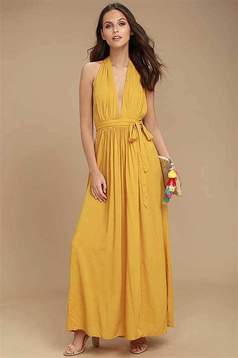 Mustard Dress by Lovely Mustard Yellow Dress Maxi Dress Wrap Dress