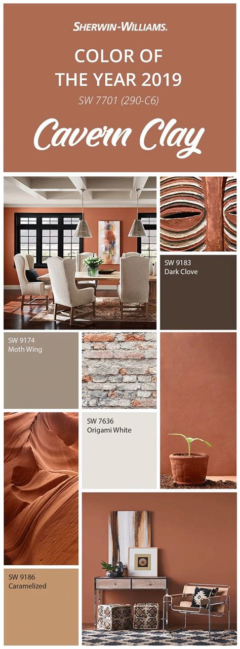 sherwin williams color of the year sherwin williams color of the year 2019 cavern clay sw