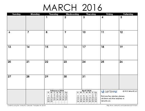 printable daily calendar march 2016 2016 calendar templates and images