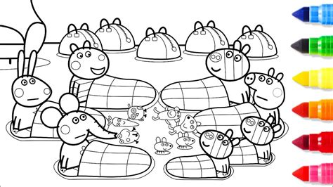 peppa pig coloring pages youtube peppa pig friends together coloring pages peppa coloring