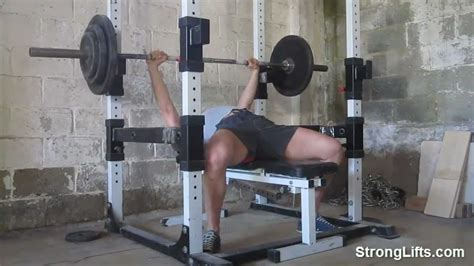 correct way to bench how to bench press stronglifts shows proper bench form