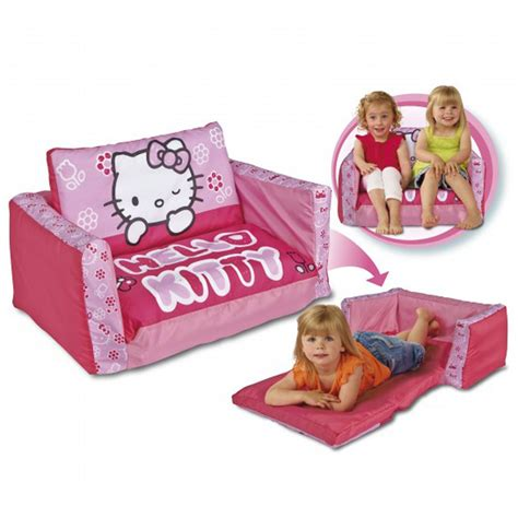 hello kitty kids couch hello kitty flip out sofa bed new inflatable kids ebay