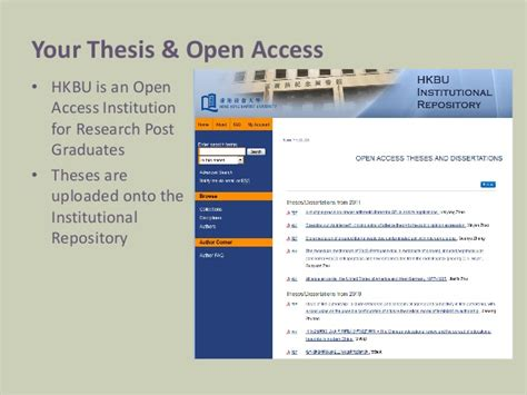 open access dissertations and theses your thesis and open access