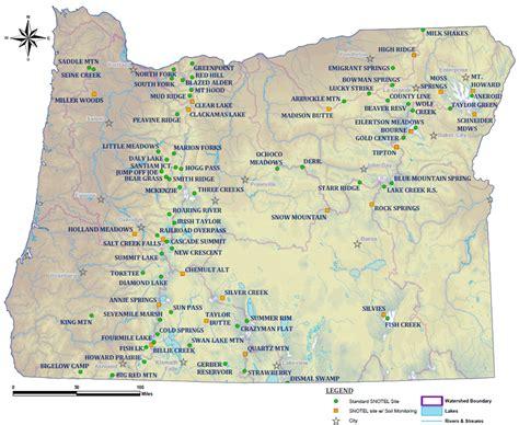 clickable map  oregon snotel sites nrcs oregon